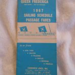 Chandris Line: 1967 Sailings and fare schedule for Queen Frederica