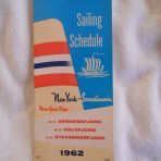 NAL: 1962 Sailing schedule paneled fold out