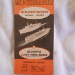 Greek Line: 1966/67 Sailings and Cruses Folder