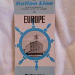 Italian Line: Boston Sailings Flyer