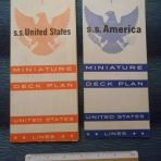 United States Lines: SSUS and SS America Miniature Deck Plan Set