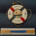 Unites States Lines: SS United States Mini Life Ring