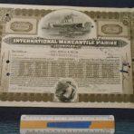 Cunard White Star: IMM Stock Certificate