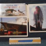 "Cunard Line"" Queen Mary 2 Building postcards"