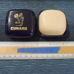 Cunard Line: QE2 Cobalt and Gold Boxed Perfumed Soap