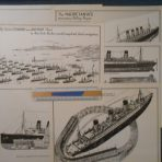 Cunard Line: set of 6 reprinted 1920's Comparisons
