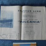 Italian Line: Large Vulcania Tissue Deck Plan June 1949