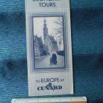 Cunard White Star: Economy Tours 1933 foldout