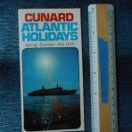 Cunard Line: Cunard Atlantic Holidays Mini foldout S/S/F1970