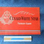 Cunard White Star: Post War Tourist Class Brochure Booklet