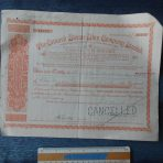 Cunard Line: 1000 pounds of Common Stock Certificate