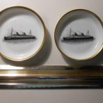 NDL: Bremen and Europa Gold Rimmed Souvenir Dishes