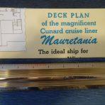 Cunard Line: Mauretania Color Cruise Plan