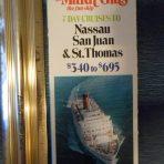 Carnival Cruises: Mardi Gras Plan Brochure 1974