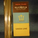 Greek Line: Olympia Deck Plan Foldout
