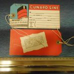 Cunard White Star: Mid 50's Baggage Tag