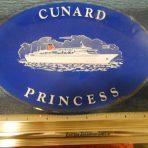 Cunard: Cunard Princess Oval Souvenir Tray