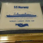 NCL: Early Glass Norway Souvenir Tray