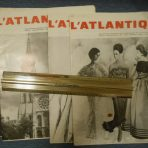 French Line: SS France 4 copies of L 'Atlantique Magazine 1963.