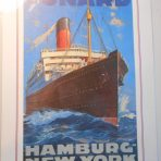 Cunard Line: Hamburg NewYork Mini Reproduction Poster