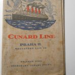 Cunard Line: Aquitania Fabric ticket folder