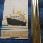 Royal Mail: SS Andes Portrait Passenger List November 1948