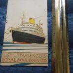 Royal Mail: SS Andes Portrait Passenger List November 1948
