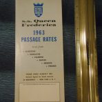 National Hellenic American Line: SS Queen Frederica 1963 Passage Rates