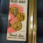 French Line: France Afloat Medallion Brochure: Liberte, Ile De France and Flandre