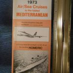 Home Lines: Homeric Air Sea Cruises Autumn 1973: Never Happened!