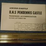 Union Castle: Pendennis Castle First Class Deck Plan