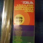 Costa Line: Italia 1976/77 Deck Plan Fold Out