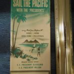 American President Lines: Sail the Pacific 1952 DP Foldout
