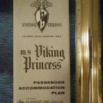 Flagship Lines: Viking Princess Deck plan December 1964