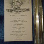 White Star Line: Doric Dinner Menu 9-11-1932