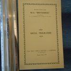 WSL: MV Britannic Social Program August 29th 1931.