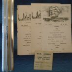 WSL: Doric 3 Menus and Dining Card 1931