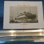 WSL: Britannic Log Abstract Card May 9th 1931.