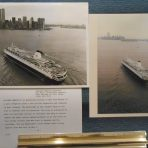 HAL Westerdam: 2 NYC publicity arrival photos March 1990.