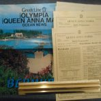Greek Line: Queen Anna Maria 1974 Daily Programs