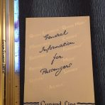 Cunard: General Information for Passengers booklet