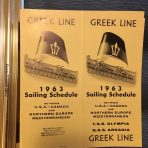 Greek Line: 1963 Sailing Schedule