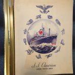 United States Lines: SS American Gala Menu 1950