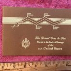 United States Lines: Navajo Lounge booklet