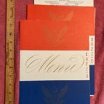 United States Lines: SSUS 3 Menu set March 1954
