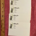 Matson Lines: South Pacific Service4 Index Card Set