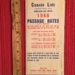 Cunard Line: Passage Rates 1960
