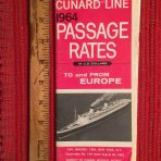 Cunard Line: Passage Rates 1964