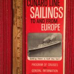 Cunard Line: Sailings folder #1 January 1964