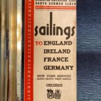 NGL: Sailings folder dated May 1939